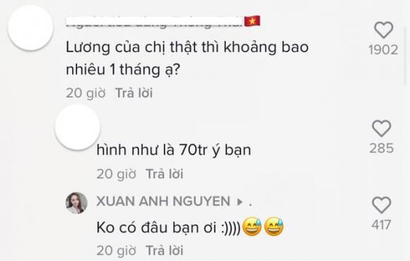 Xuân Anh, BTV Xuân Anh, thu nhập ở VTV