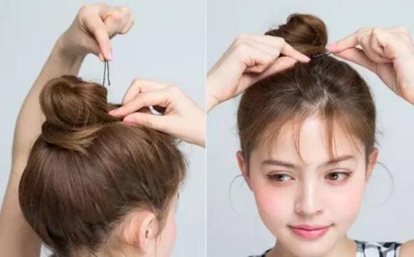 Cách búi tóc ngắn ngang vai, búi tóc đẹp, Cách búi tóc ngắn ngang vai bóng đẹp