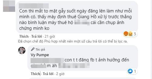 Mạc Văn Khoa, Vy Pumpe, Sao Việt, Đáp trả cực gắt