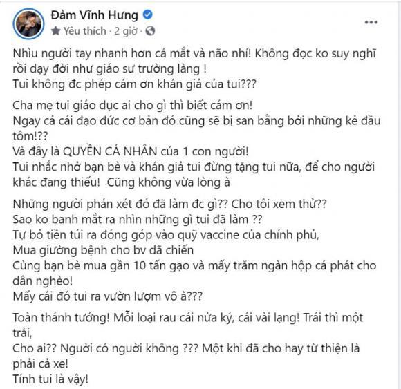 Đàm Vĩnh Hưng, Mr Đàm, sao Việt