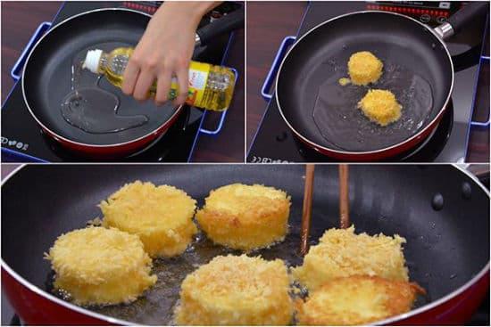 đậu hũ trứng chiên xù, dạy nấu ăn, món ăn ngon