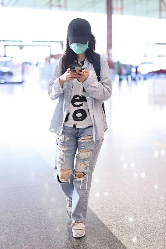 triệu vy, thời trang sân bay, sao hoa ngữ