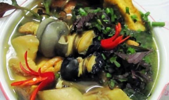 ốc nấu giả ba ba, ốc nấu chuối đậu, món ngon với ốc