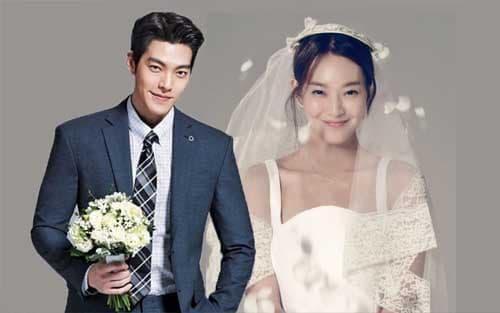 kim woo bin, shin min ah, kết hôn, sao hàn