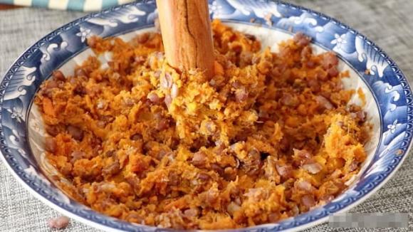 Bánh nếp nhân đậu đỏ khoai lang, làm bánh, bánh ăn sáng, dạy nấu ăn