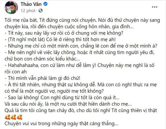 MC Thảo Vân, con trai Thảo Vân, sao Việt