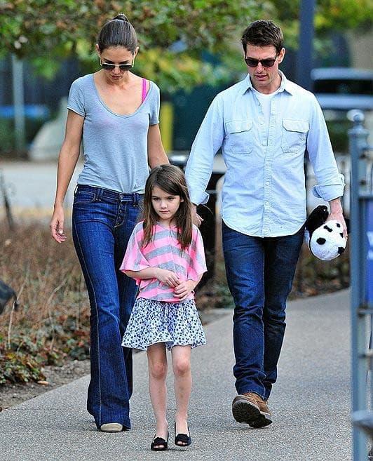Suri Cruise,  Katie Holmes, Tom Cruise , sao hollywood