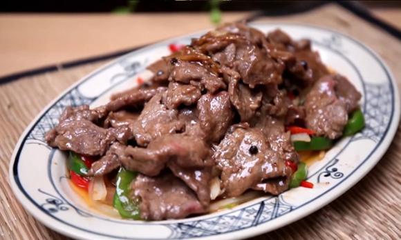 bò sốt tiêu đen, công thức bò sốt tiêu đen, món ngon với thịt bò