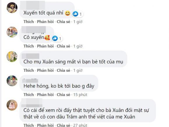 Hương vị tình thân, bà Xuân, Quách Thu Phương, Việt Hoa