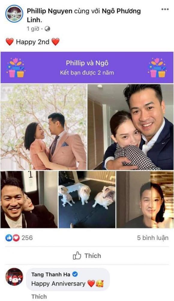 Động thái của Hà Tăng khi em chồng Phillip Nguyễn đăng ảnh kỉ niệm 2 năm yêu Linh Rin