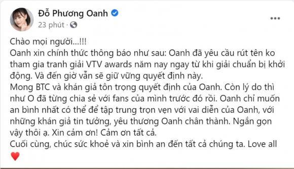 Phươn Oanh, diễn viên Phương Oanh, sao Việt