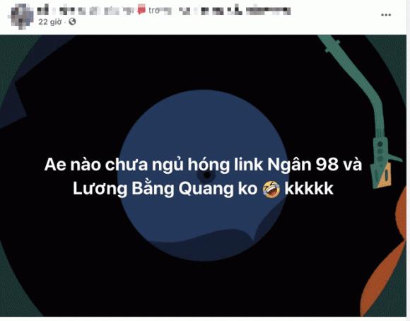 nhạc sĩ Lương Bằng Quang, hotgirl Ngân 98, sao Việt