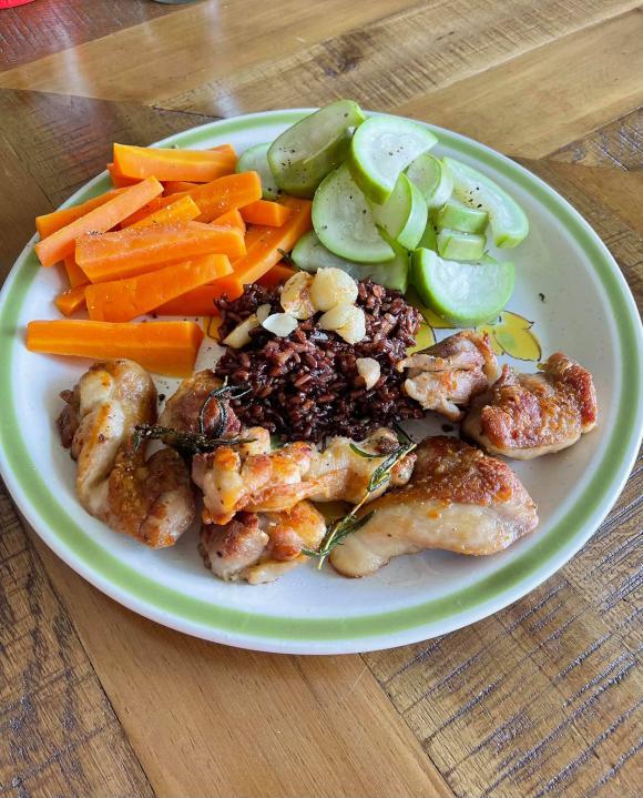 Minh Triệu, ăn kiêng, chế độ ăn kiêng
