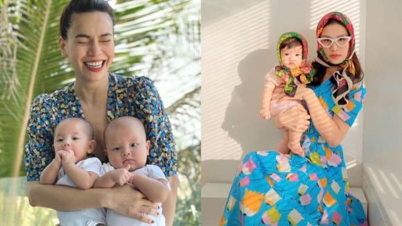 Hồ Ngọc Hà, cặp sinh đôi Lisa - Leon, Đông Nhi, bé Winnie, Hòa Minzy, bé Bo, mẹ bỉm sữa, An Nguỵ, bé Bay, thế lực nhí, sao Việt
