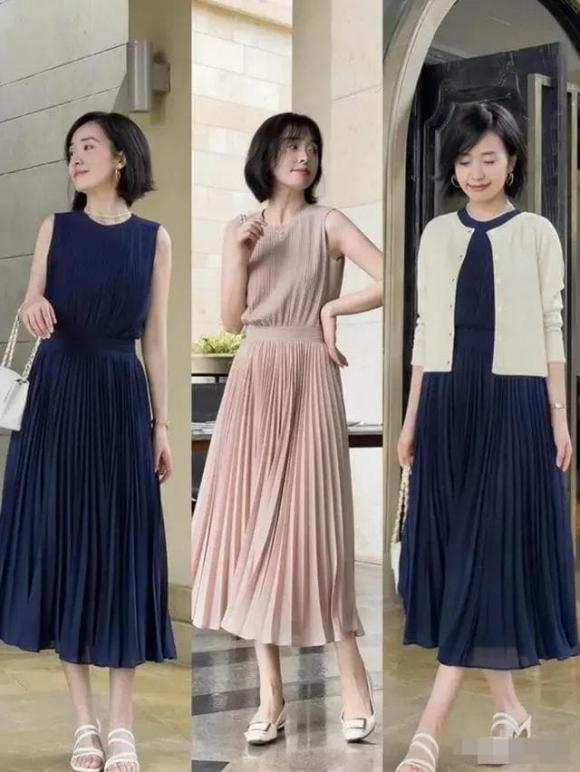 váy hè, váy trung niên, kiểu váy nhẹ nhàng