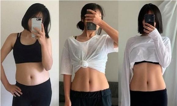 giảm cân tiêu cực, giảm cân, cô gái giảm cân bằng ăn hoa quả