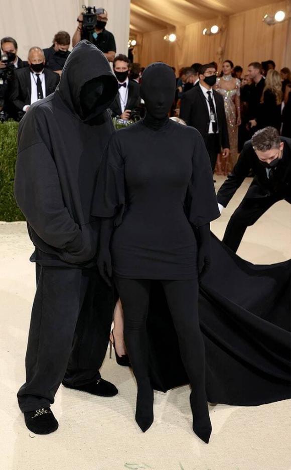 kim kardashian, kanye west, met gala 2021