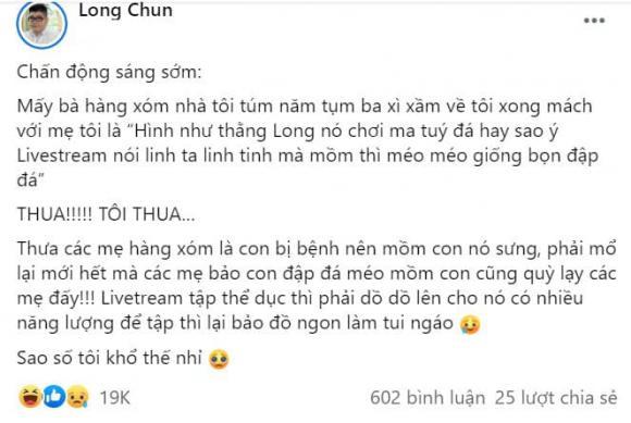 Long Chun, hot Tiktoker Long Chun, Long Chun bị bệnh