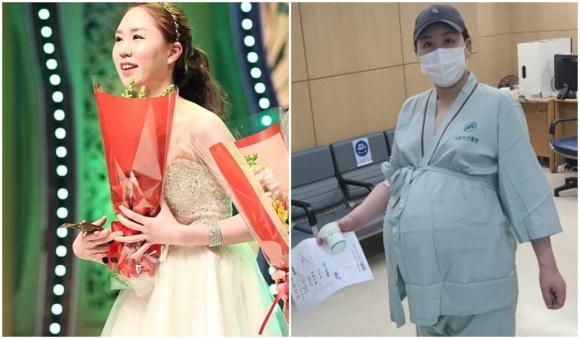 hwang shin young, mang thai 3, phù chân, sao hàn