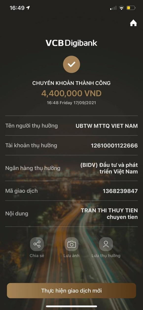 Thủy Tiên, Công Vinh, Sao Việt, Sao kê, từ thiện