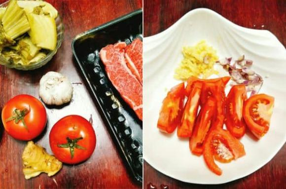 canh dưa chua thịt bò, cách làm canh dưa chua thịt bò, các món ngon với thịt bò