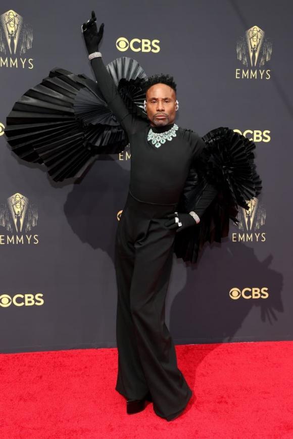 Billy Porter, thảm đỏ Emmys 2021, sao âu mỹ