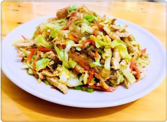 miến xào, bún xào, món ăn nhanh, miến xào bắp cải, dạy nấu ăn, tự nấu ăn, mẹo nấu ăn