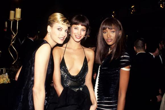 Linda Evangelista, Naomi Campbell, Cindy Crawford, sao âu mỹ