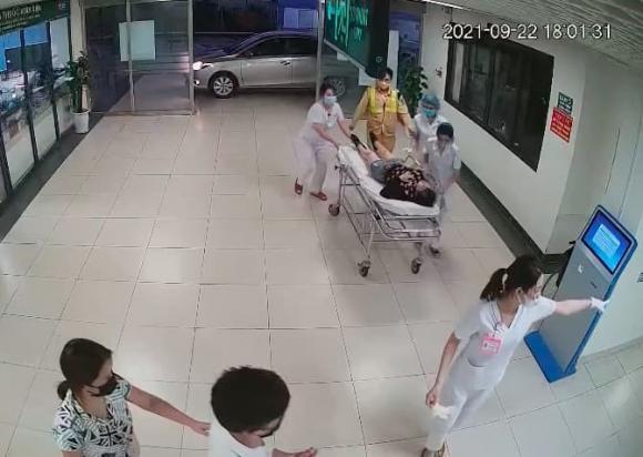 cao tốc Hà Nội - Thái Nguyên, CSGT, đau tim, nữ tài xế