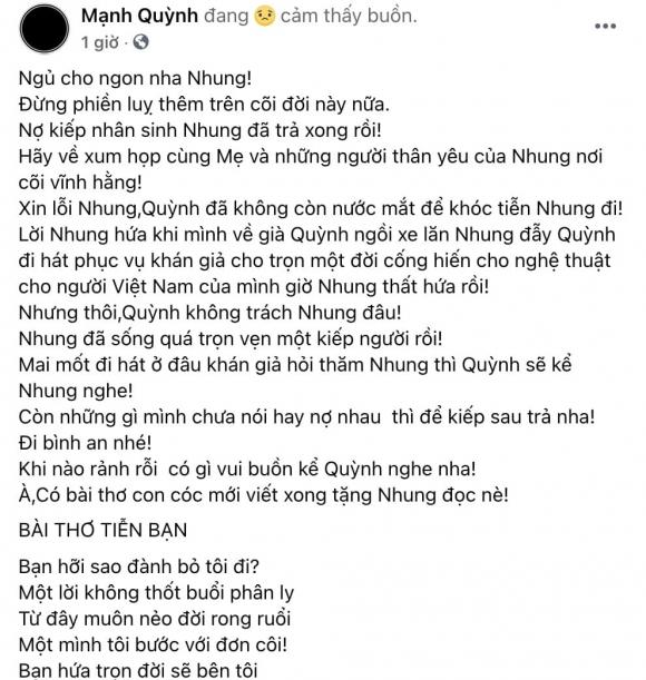 ca sĩ Phi Nhung, ca sĩ Mạnh Quỳnh, sao Việt
