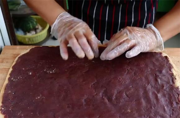 bánh nếp, bánh nếp nhân đậu đỏ, làm bánh, tự làm bánh, dạy nấu ăn