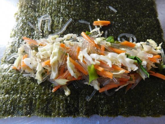miến chiên, miến sushi chiên, món ngon từ miến