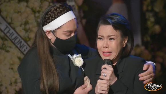 Việt Hương, Phi Nhung, Nhạc sĩ Hoài Phương, Đám tang tại Mỹ