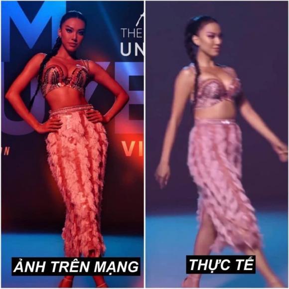 Trước thềm tham dự Miss Universe 2021, Kim Duyên lại bị soi body kém thon, đặc biệt vòng eo 'bánh mì' trông phát ngán