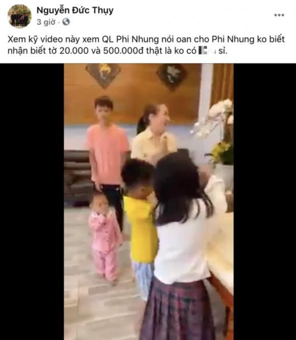 Bầu Thuỵ đăng clip NS Phi Nhung đếm tiền thuần thục, mắng quản lí cố ca sĩ là vô liêm sỉ