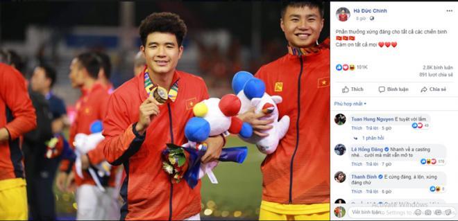 Dàn tuyển thủ U22 hạnh phúc vỡ òa, đồng loạt chia sẻ khi lần đầu tiên vô địch SEA Games 6