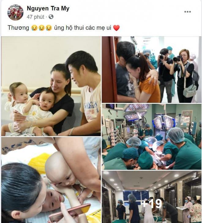 sao Việt cầu nguyện cho cặp song sinh 5