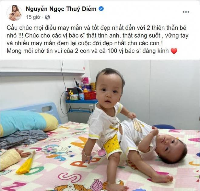 sao Việt cầu nguyện cho cặp song sinh 6