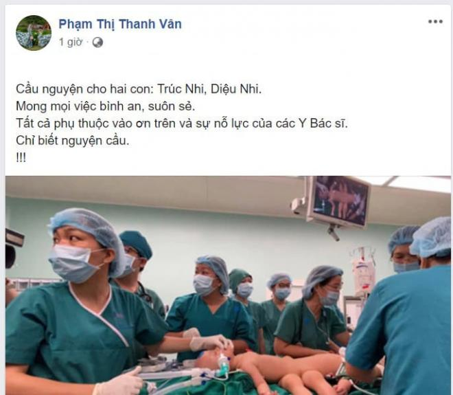 sao Việt cầu nguyện cho cặp song sinh 8