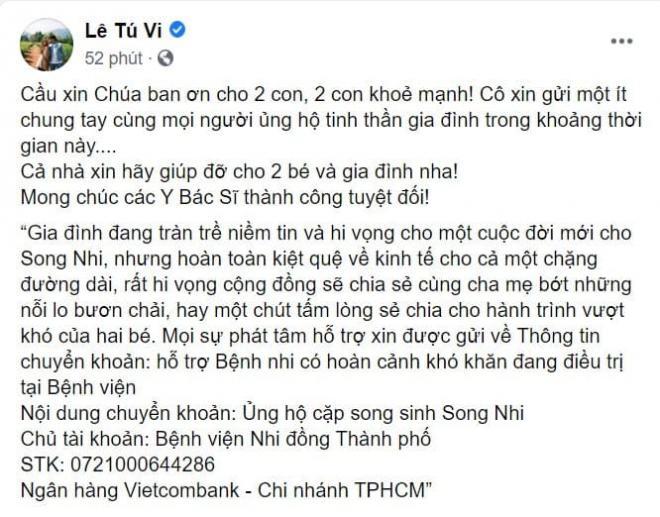 sao Việt cầu nguyện cho cặp song sinh 1