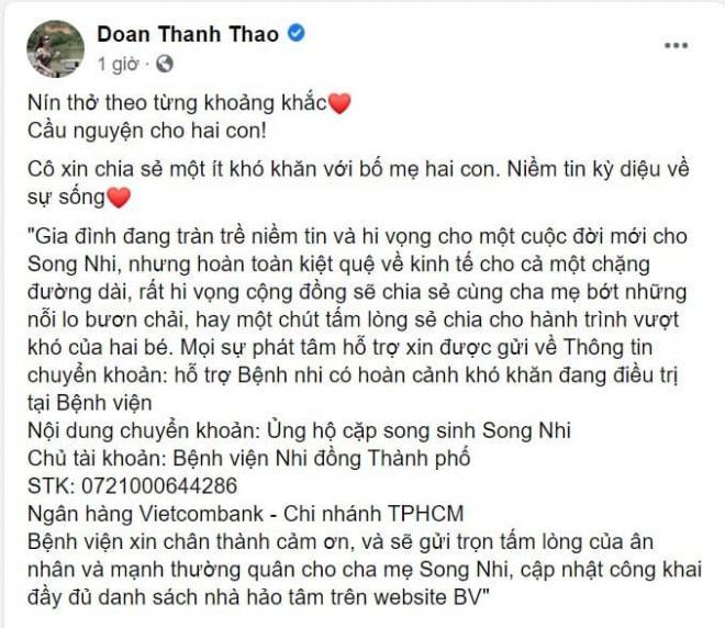sao Việt cầu nguyện cho cặp song sinh 3