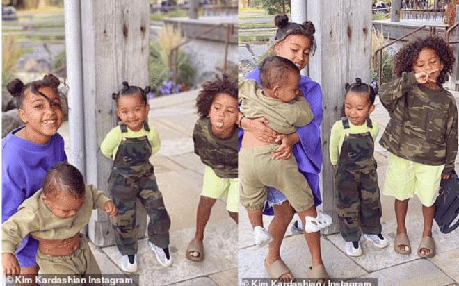 Kim Kardashian khoe ảnh gia đình hạnh phúc bên Kayne West và 4 con sau khi rộ tin đồn ly hôn 0