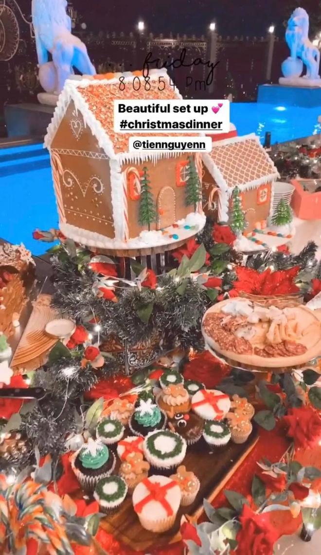 """Tiệc Noel toàn """"mùi tiền"""" của nhà hào môn Hà Tăng: Sang trọng đến từng chi tiết"""