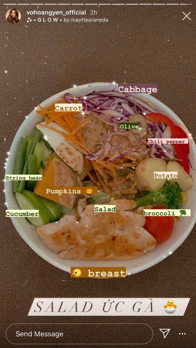 thực đơn ăn uống của Võ Hoàng Yến 8