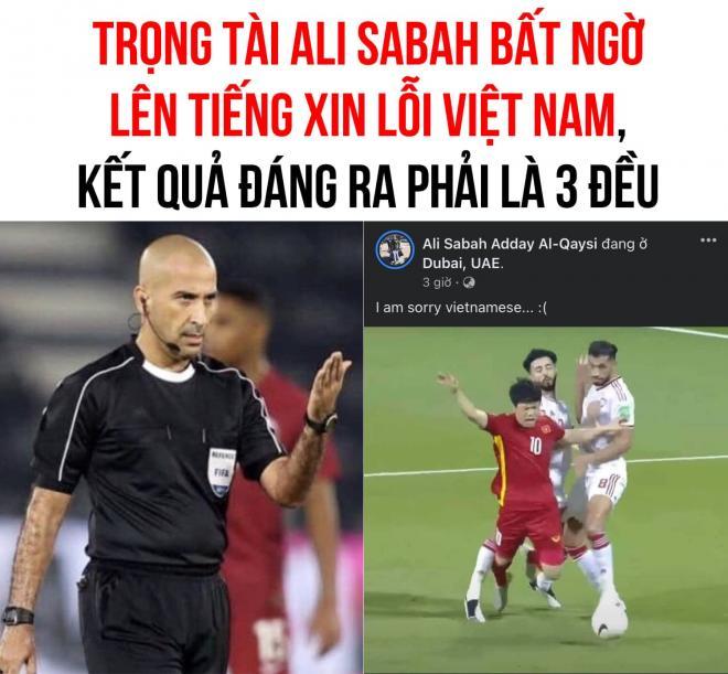 Trọng tài trận Việt Nam - UAE l 0