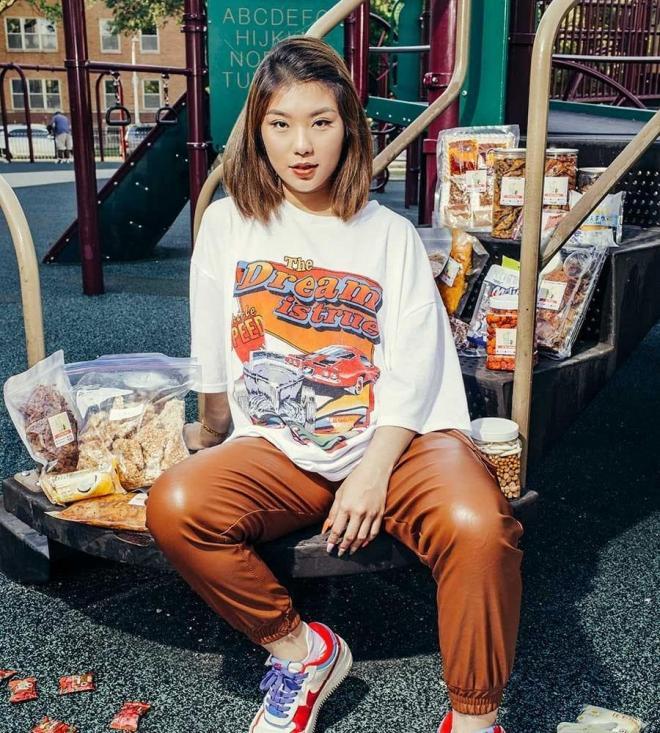 Ăn vặt cô béo, Vũ hồng cúc, bán đồ ăn việt nam ở Mỹ