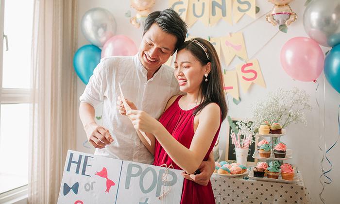 Vợ chồng Quang Tuấn – Linh Phi công bố giới tính em bé sắp chào đời
